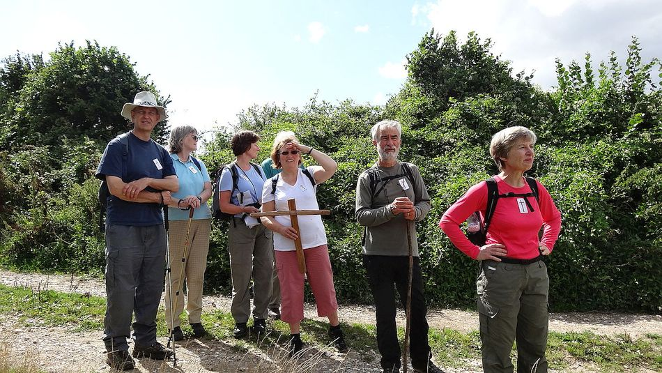 Pilgrimage Day 2 On the way to Tadley Common Methodist Church from Kempshott
