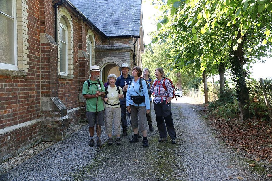 Pilgrimage Day 4 Getting ready to set off from Bradfield