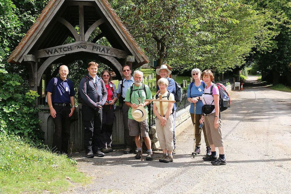 Pilgrimage Day 4 Theres another good lych gate, Watch and Pray is good advice!