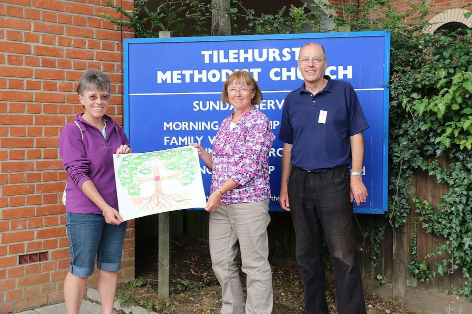 Pilgrimage Day 4 The Circuit Tree has arrived at Tilehurst Methodist Church