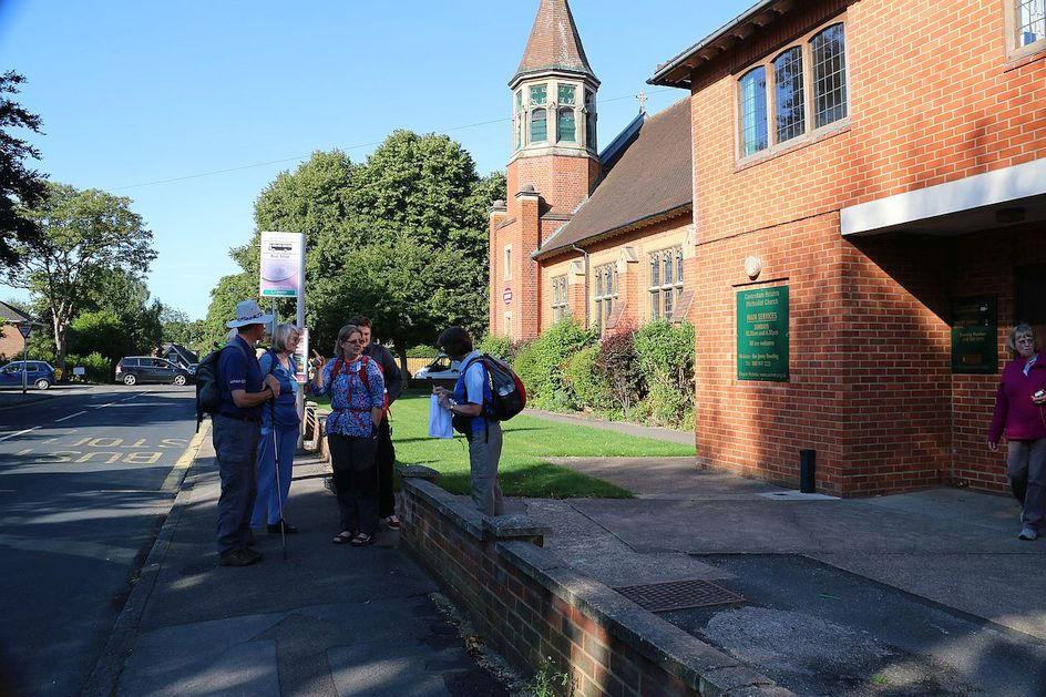 Pilgrimage Day 6 Getting ready to leave Caversham Heights Methodist Church