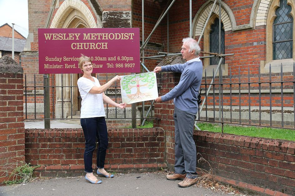 Pilgrimage Day 6 The Circuit Tree has arrived at Wesley Methodist Church