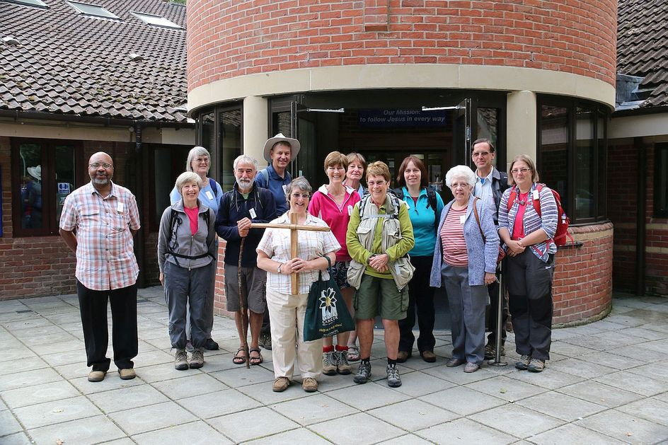 Pilgrimage Day 8 Breakfast over at Christ Church, Chineham - ready to go again