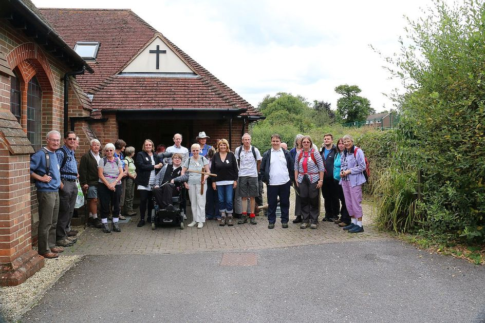 Pilgrimage Day 9 Morning service and lunch at Tadley Main Road Methodist Church