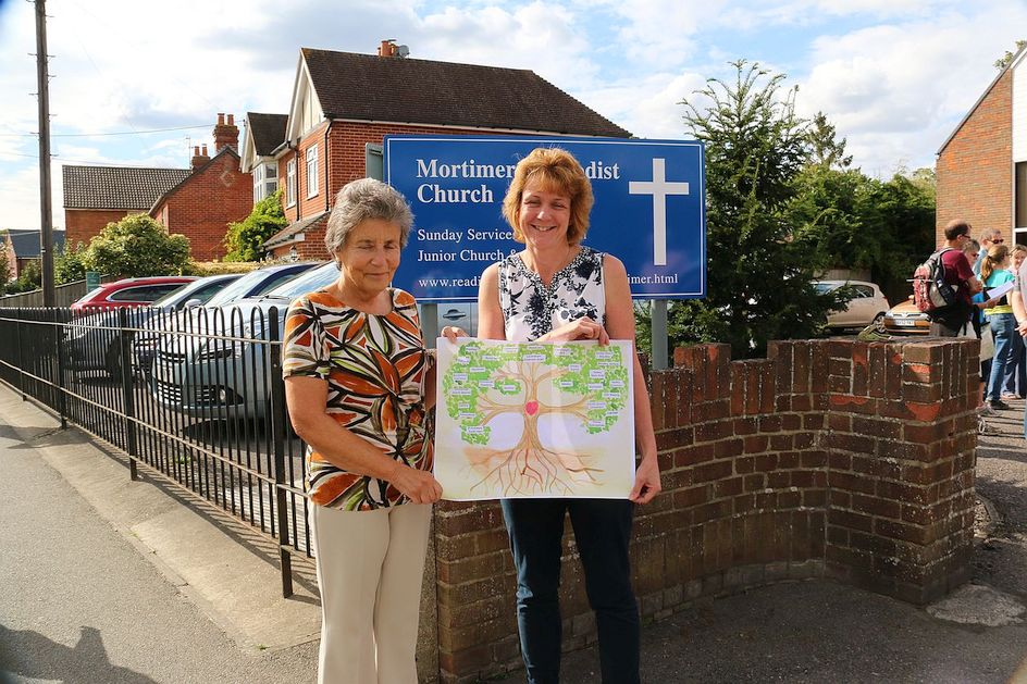 Pilgrimage Day 9 The Circuit Tree has arrived at Mortimer Methodist Church