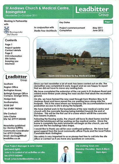 Leadbitter News Sheet
